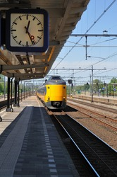 Dutch train arriving