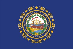 New Hampshire State Flag, USA. Vector Format