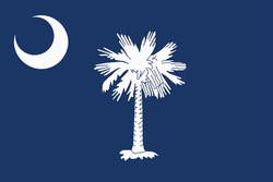 South Carolina State Flag, USA. Vector Format
