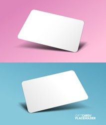 A gift card template placeholder with a 3D effect - vector illustration