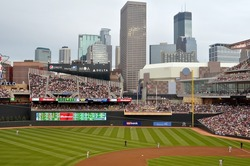MINNEAPOLIS - JULY 30:  The Minnesota Twins play the Seattle Mariners in the first season of Target Field, on July 30, 2010 in Minneapolis.
