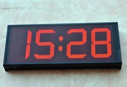digital clock to mark the exact time and over time, through the display.