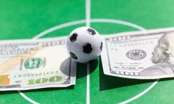 concept of sports betting on football