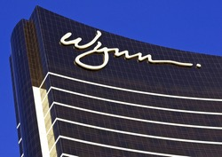 LAS VEGAS, NEVADA - MAY 16, 2012: Close up of the Wynn Hotel Resort Casino showing architectural detail.