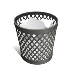 Wastepaper Basket black full