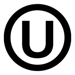 Orthodox Union Kashrut supervision symbol. The hechsher of the Orthodox Union is the most widely known kosher certification in the world. Vector Format.