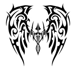 d7e4319835f64 Similar Images, Stock Photos & Vectors of Wings Tattoo Tribal Art ...