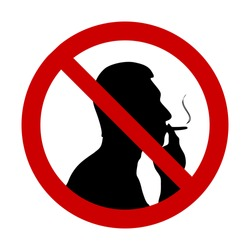 "vector illustration of ""No smoking"" sign"