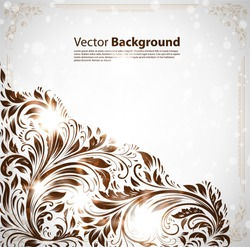 Wallpaper vintage Background vector with copy space