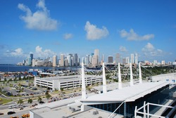 Downtown Miami from the Cruise Port