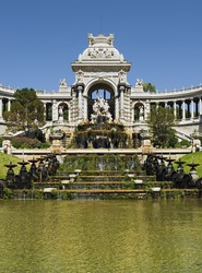 "The artful palace ""Longchamp"" of ""Marseille"" in France"