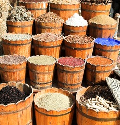 East market, sale of spices