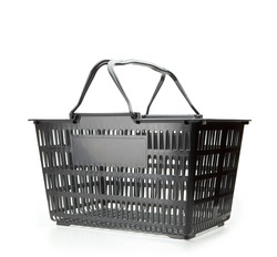 Shopping basket with handle up. empty.