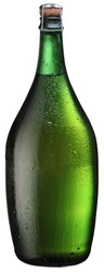Bottle of sparkling wine isolated on a white. File has clipping path.
