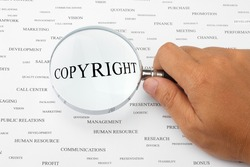 The word COPYRIGHT is magnified.