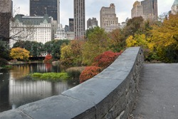 Central Park, New York City Gapstow old stone bridge in by 50th street