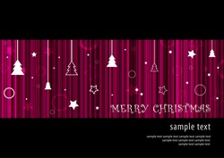 Abstract deep purple Merry Christmas background card design (eps10)