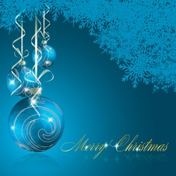Abstract blue merry christmas background. Vector eps10 illustration