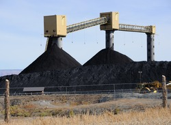 Coal Stockpile at Rural Power Plant