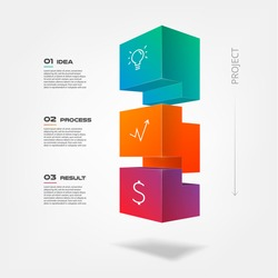 Similar images stock photos vectors of 3d tetris blocks 3d tetris blocks infographics step by step element of chart graph diagram with ccuart Image collections