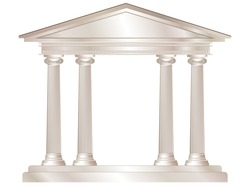 A vector illustration of a classical style white marble temple. EPS10 vector format