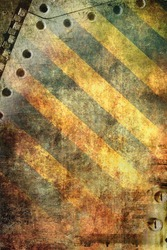 Grunge background, yellow stripes
