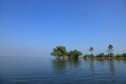 Beautiful backwater destinations of Kerala, India.