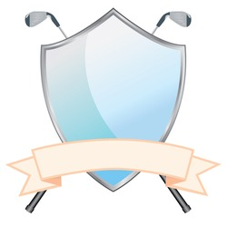 Golf Shield - A customizable golf shield for your next golf day.