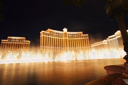 LAS VEGAS - DEC 19: In Oct., 2010 gambling revenue soared 16% over 2009. The Bellagio resort shown on December 19, 2010