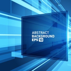 Abstract 3d science wire with smooth light vector background. Eps 10.