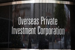 WASHINGTON, DC - NOVEMBER 26: Overseas Private Investment Corporation in Washington, DC on November 26, 2016. It was established in 1971 as an agency of the U.S. Government.