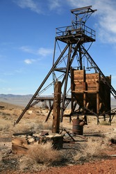 an old abandonded gold mine in americas wild wild west