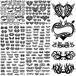 Over 150 tribal tattoos. Set 1-6