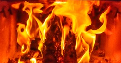 Indoor photography-Fire from fireplace