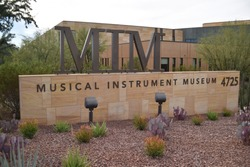 Phoenix, Arizona. U.S.A.  November 27, 2017. Musical Instrument Museum (MIM).  Collection of musical instruments from around the world.