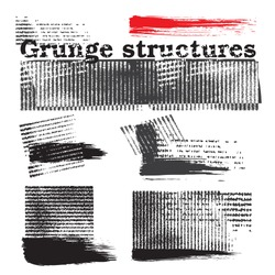 Grunge structure elements (vector)