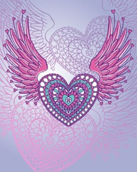 Ornate Wing Heart