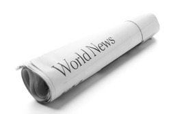 World News -Roll of newspapers