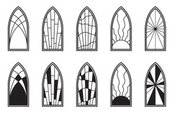 Vector art depicting isolated stained glass window