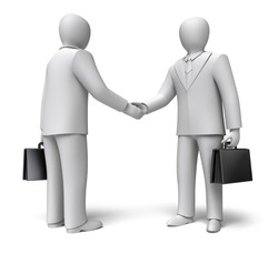 Business people shaking hands. 3D concept