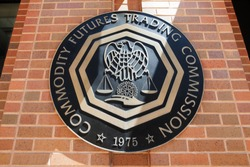WASHINGTON, DC - AUGUST 20: Emblem at the U.S. Commodity Futures Trading Commission in Washington, DC on August 20, 2017.