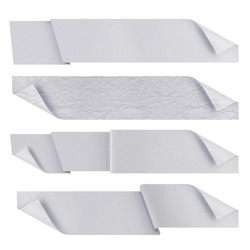 white polygonal origami ribbons. ready for your text