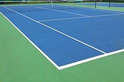 New outdoor the tennis courts