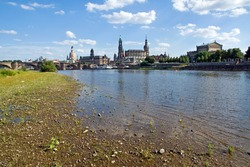 The famous Canaletto view of Dresden, Germany