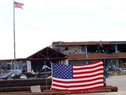 Joplin High School in aftermath of Joplin Missouri Tornado