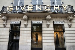 PARIS - JULY 20: Givenchy company headquarters and store on July 20, 2011 in Paris, France. Givenchy is a luxury brand owned by French conglomerate LVMH with $20.32bn EUR revenue for 2010.