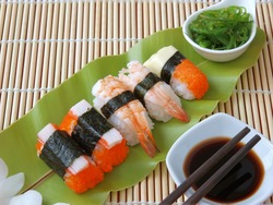 sushi ,traditional japanese food