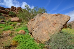 Large granite boulders, Brandberg mountain, Namibia