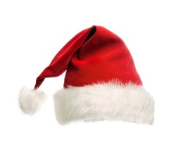 Santa claus red hat.  isolated on white