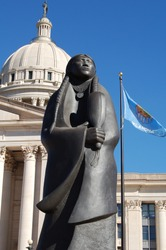 Indian Woman Statue in front of Oklahoma Capitol Building
